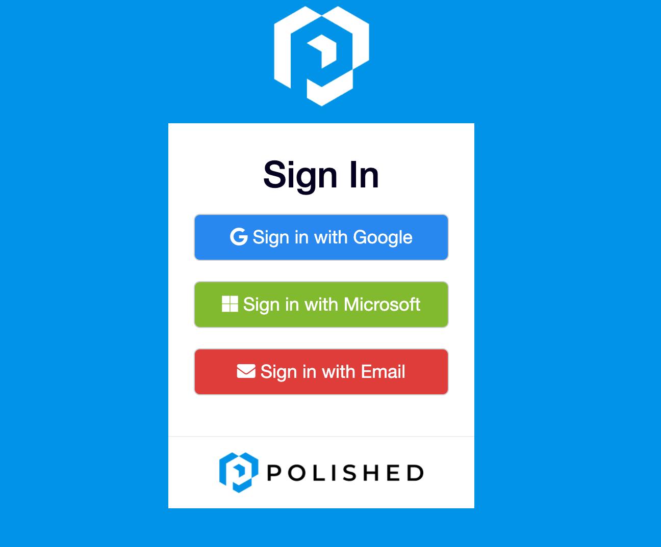 Polished.tech Register