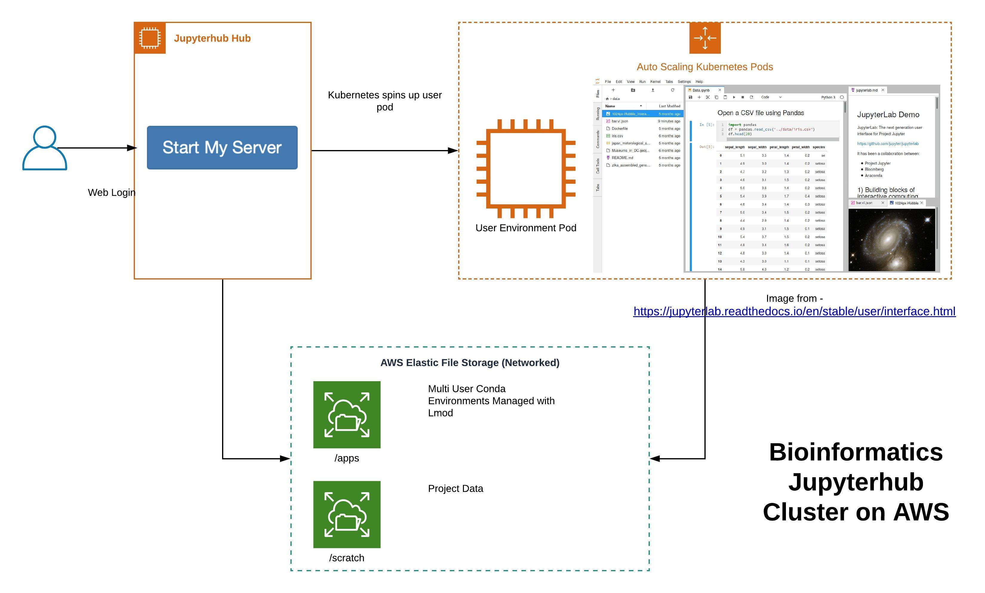 Bioinformatics Jupyterhub Cluster on AWS