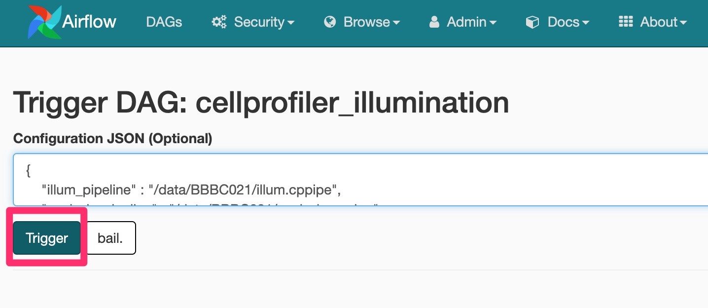 CellProfiler Illumination DAG JSON Configuration